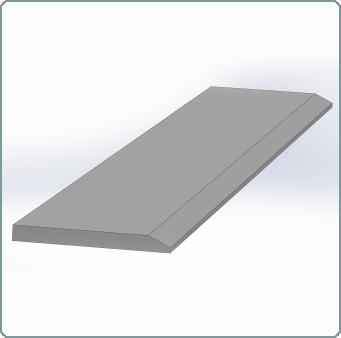 Messenstaal hardox 500 - 221enkelzijdigmessenstaal